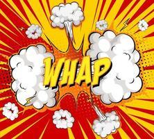 texte whap sur explosion de nuage comique sur fond de rayons