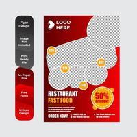 modèle de flyer de restaurant moderne vecteur