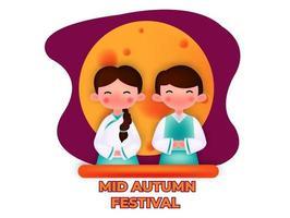 conception de vecteur de festival chinois mi automne