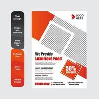 menu de restaurant, brochure, modèle de conception de flyer
