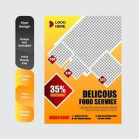modèle d'affiche de restaurant d'aliments sains vecteur