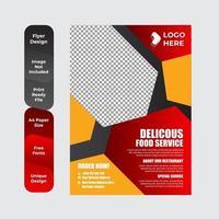 modèle de menu de café restaurant vecteur