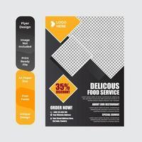 conception de brochures ou de dépliants alimentaires délicieux vecteur