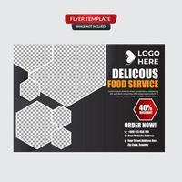 conception d'affiche de restaurant d'aliments sains vecteur