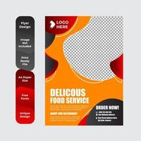 modèle de menu de restaurant vecteur