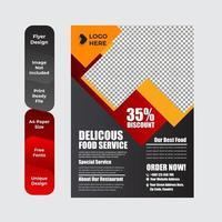 modèle de conception de brochure dépliant de livraison de nourriture