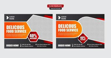 menu de nourriture et ensemble de modèles de flyer de restaurant