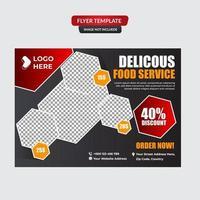 menu de nourriture et modèle de flyer de restaurant