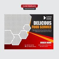 modèle de promotion de flyer de nourriture de restaurant vecteur