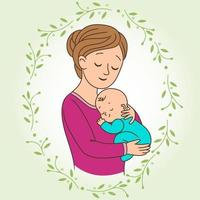 mère et bébé vecteur