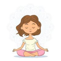 calme et détente, bonheur féminin vecteur