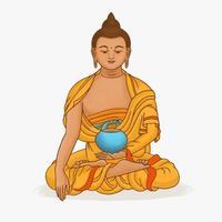 art de Bouddha de Dieu vecteur