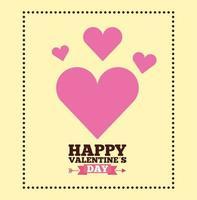 célébration de la saint valentin avec des coeurs