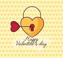 célébration de la saint valentin avec cadenas coeur