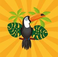 carnaval brésilien avec toucan vecteur