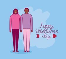 célébration de la saint-valentin avec les amoureux