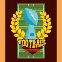 affiche de sport de football américain avec trophée vecteur