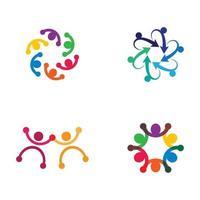 conception d'images de logo de soins communautaires vecteur