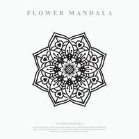 mandala de fleurs. éléments décoratifs vintage. motif oriental, illustration vectorielle. vecteur