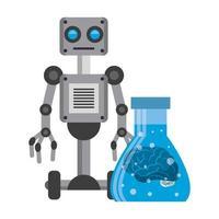 caricature de concept icônes intelligence artificielle