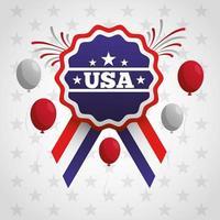 affiche de la fête des présidents avec drapeau et ballons