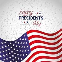 affiche de fête des présidents heureux avec drapeau