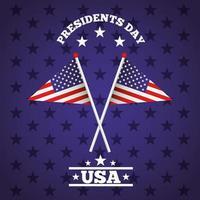 affiche de célébration de la journée des présidents heureux avec des drapeaux usa