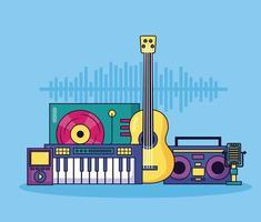 fond coloré de musique