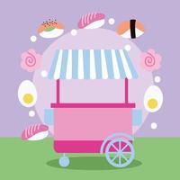 kiosque de nourriture de style kawaii