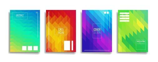 conception de couverture de fond de motif de ligne abstraite couleur dégradé lumineux. design de fond moderne avec des couleurs vives à la mode et vives. modèle de couverture de vecteur d'affiche de pancarte bleu violet rouge orange vert.
