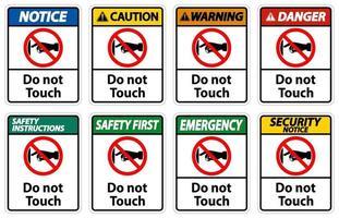 notez ne pas toucher les étiquettes de signe