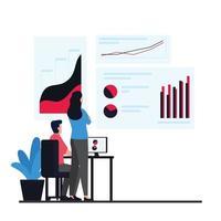 illustration de concept d & # 39; informations de données