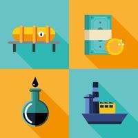ensemble d'icônes de prix du pétrole