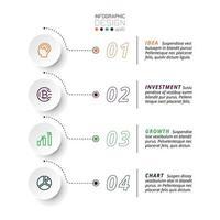 5 étapes pour présenter et rendre compte des résultats, y compris expliquer le flux de travail d'une entreprise ou d'une organisation. infographie vectorielle.