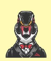 illustration de bureau de canard vecteur