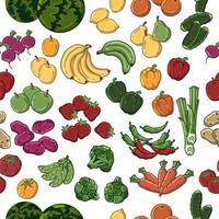 vecteur de motif de légumes