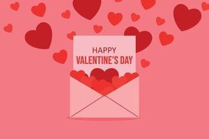 illustration de concept de fond Saint Valentin