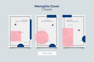 regrouper les couvertures de vente dans le style memphis vecteur