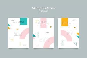 ensemble de collection de couvertures de style néo memphis vecteur