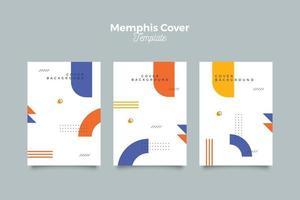 collection de couvertures de vente dans le style memphis vecteur