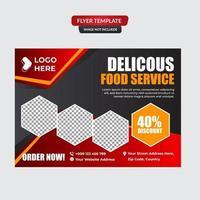 modèle de flyer restaurant hamburgers