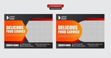 modèle de médias sociaux de restauration rapide burger