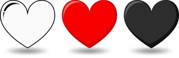 ensemble de différentes formes de coeur vecteur