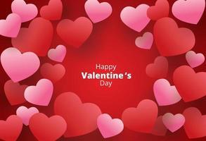 joyeuse saint valentin, fond de coeurs suspendus vecteur