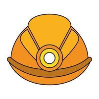 casque de travailleur avec symbole lumineux