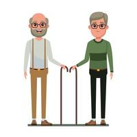 personnage de dessin animé avatar personnes âgées vecteur