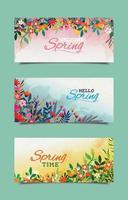 modèles de bannière de printemps harmonie vecteur