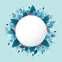 nature florale avec fond bleu vecteur