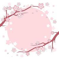 fond d'arbre fleur de cerisier rose et blanc vecteur