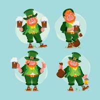 personnage de lutin célébrant la Saint-Patrick vecteur